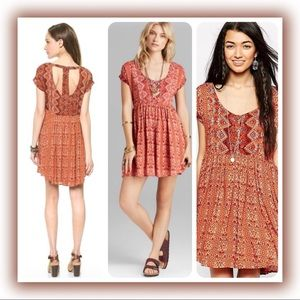 Free People Sundown Boho T-back Dress